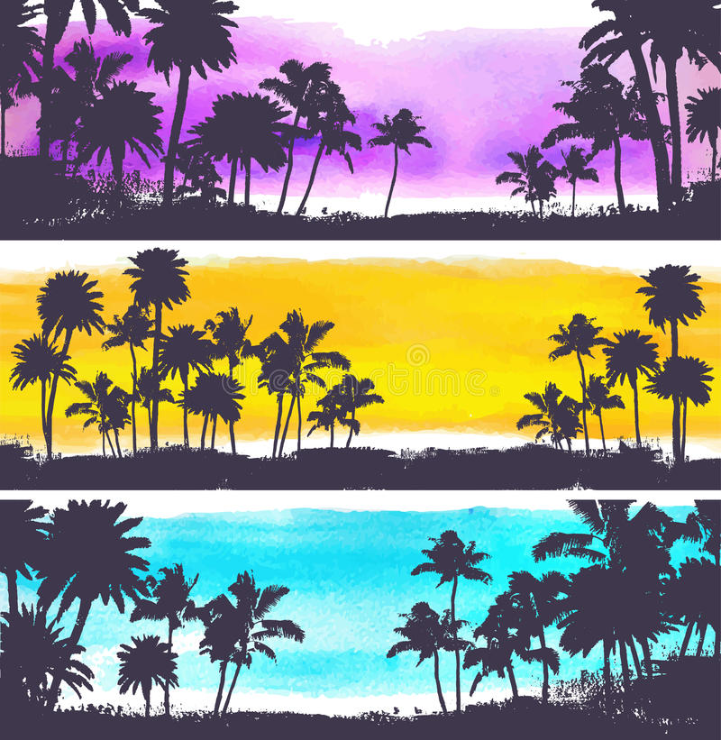 Download Illustration De Palmiers De Vecteur Illustration de Vecteur - Illustration du été, grunge: 45360505