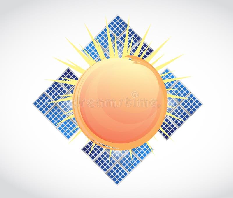 Download Illustration De Panneaux Solaires De Sun Illustration Stock - Illustration du illustration, graphisme: 45358392