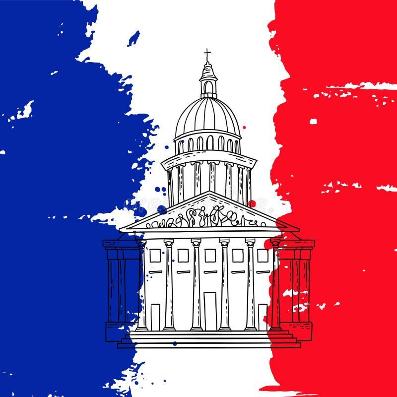 Illustration de Panthéon de Paris illustration de vecteur