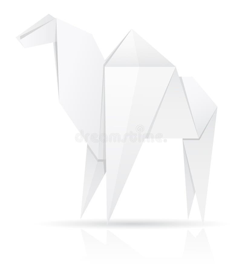 Illustration de papier de vecteur de chameau d'origami illustration libre de droits