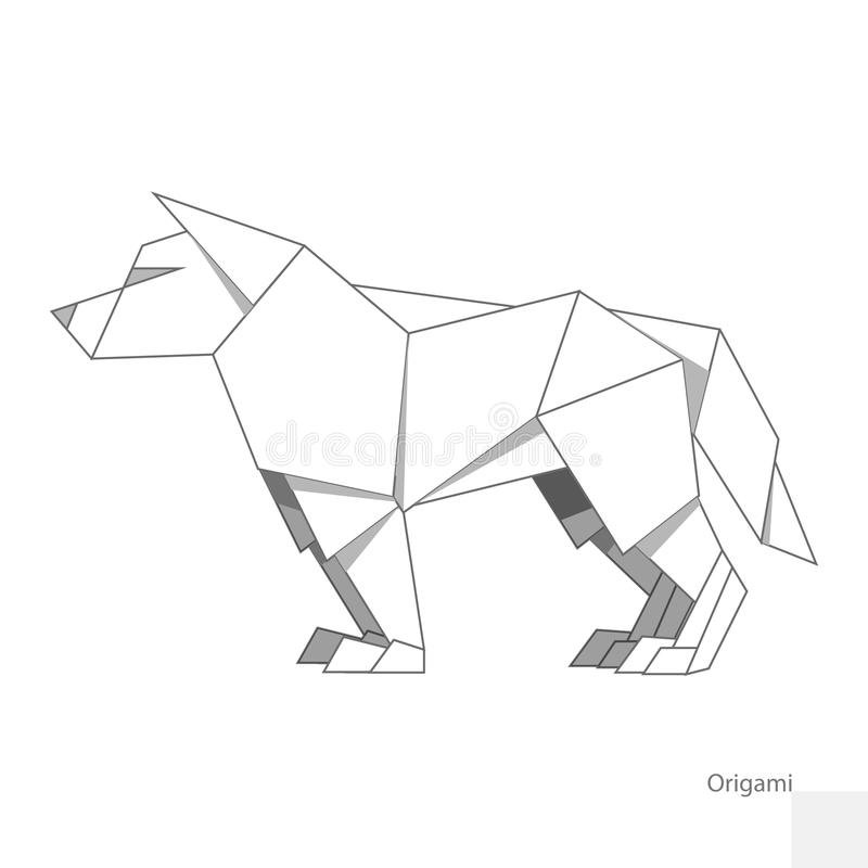 illustration de papier de vecteur de loup d 39 origami illustration de vecteur illustration du. Black Bedroom Furniture Sets. Home Design Ideas