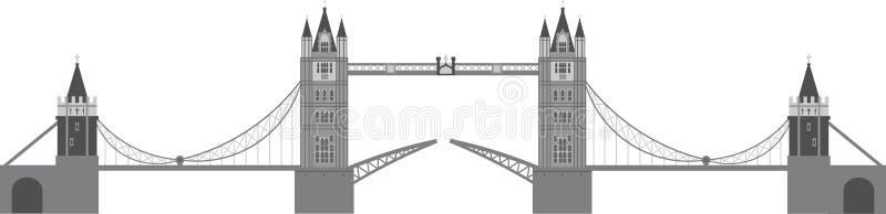 Illustration de passerelle de tour de Londres illustration stock