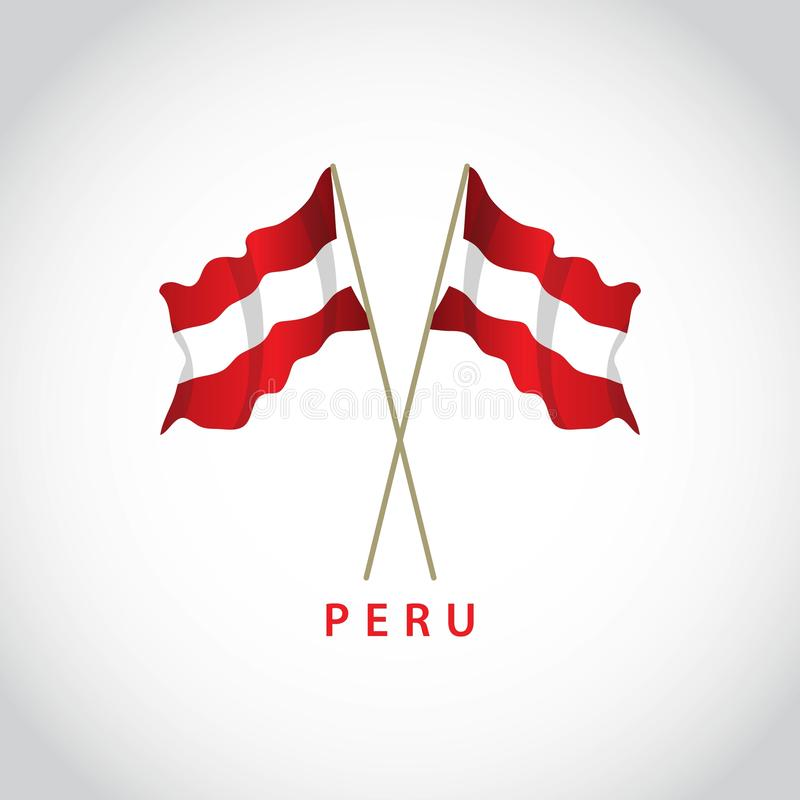 Illustration de Peru Flag Vector Template Design illustration stock