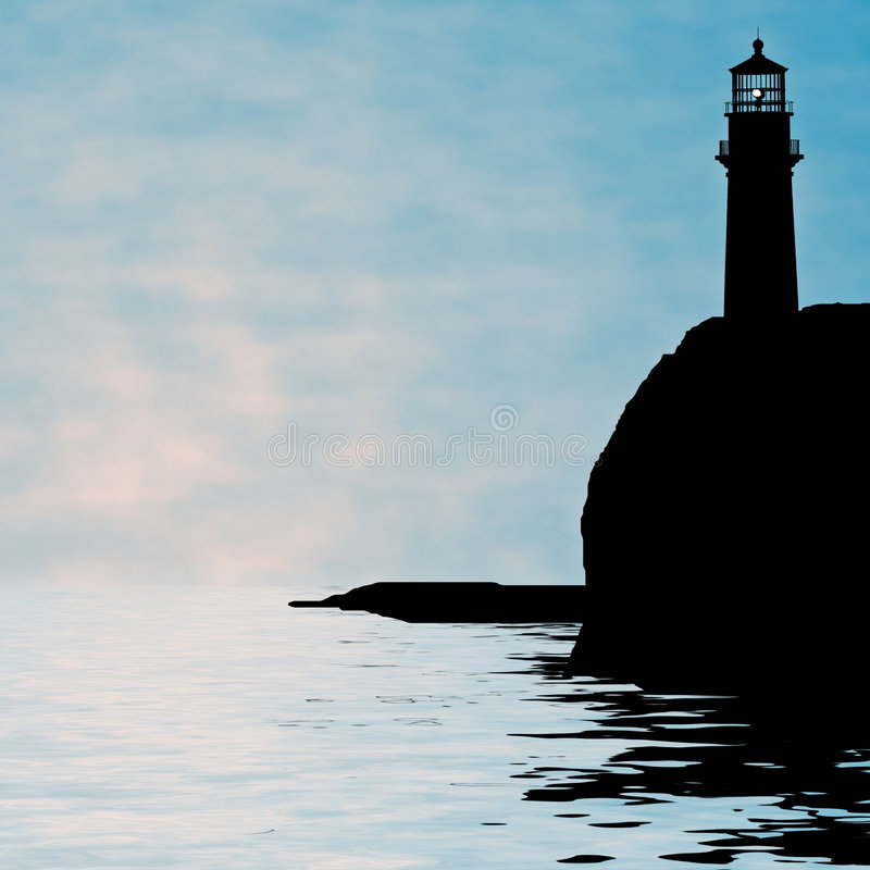 Illustration de phare photographie stock libre de droits