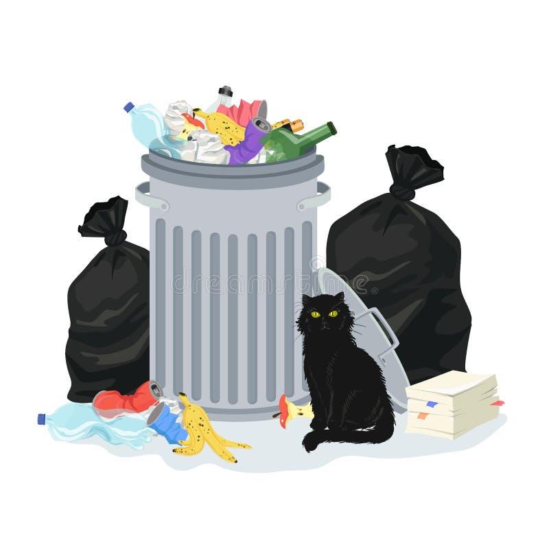 Illustration de pile de déchets illustration de vecteur