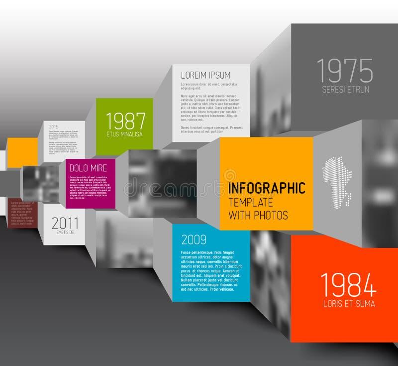 Illustration de places et de cubes de vecteur/infographic illustration stock