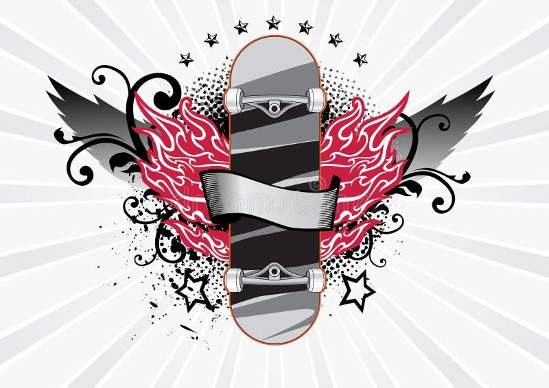 Illustration de planche à roulettes illustration libre de droits