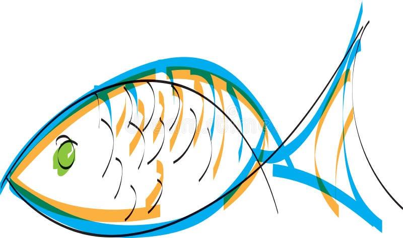 Illustration de poissons illustration de vecteur