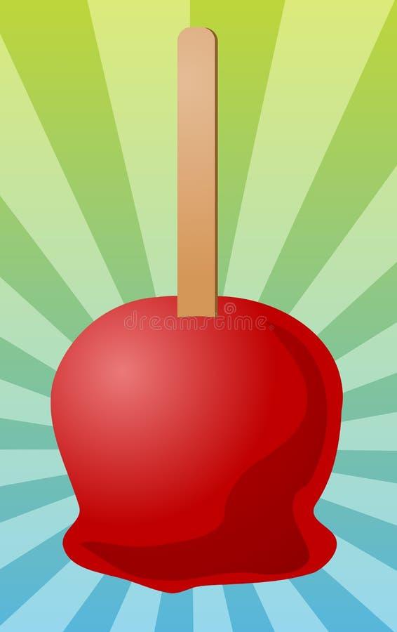 Illustration de pomme de sucrerie illustration stock
