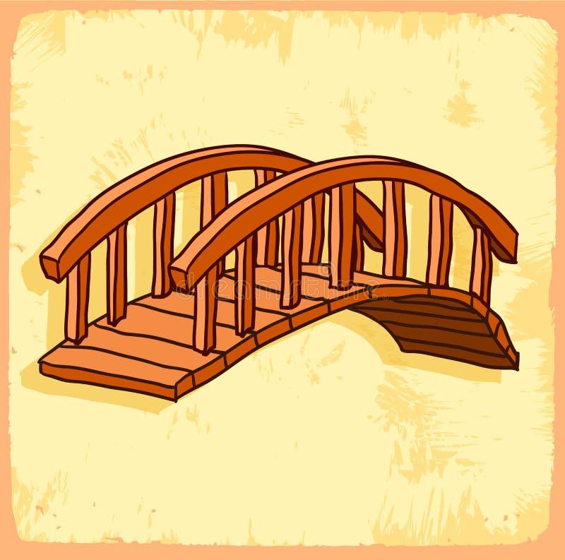 Illustration de pont de bande dessinée, icône de vecteur illustration libre de droits