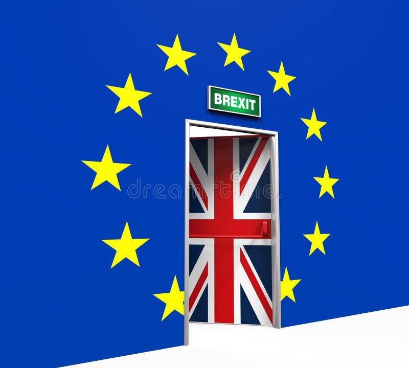 Illustration de porte de Brexit illustration stock