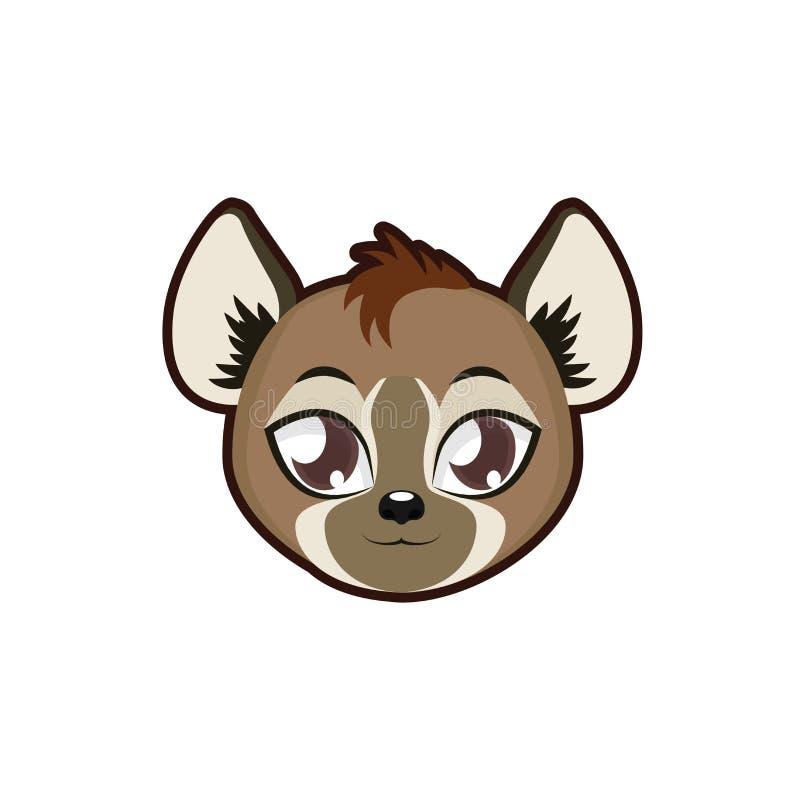 Illustration de portrait d'hyène illustration stock