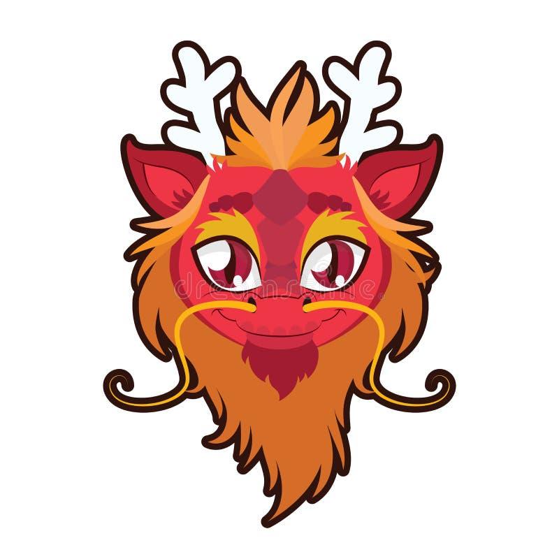 Illustration de portrait de dragon illustration stock