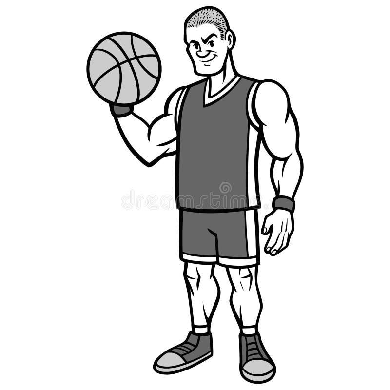 Illustration de position de joueur de basket illustration libre de droits