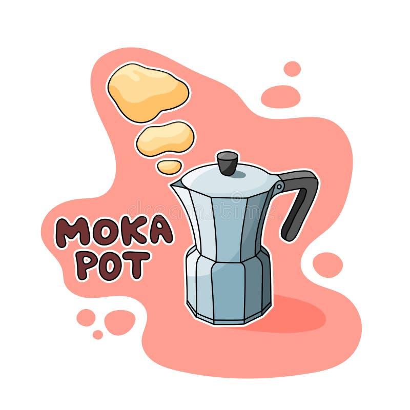 Illustration de pot de Moka image libre de droits