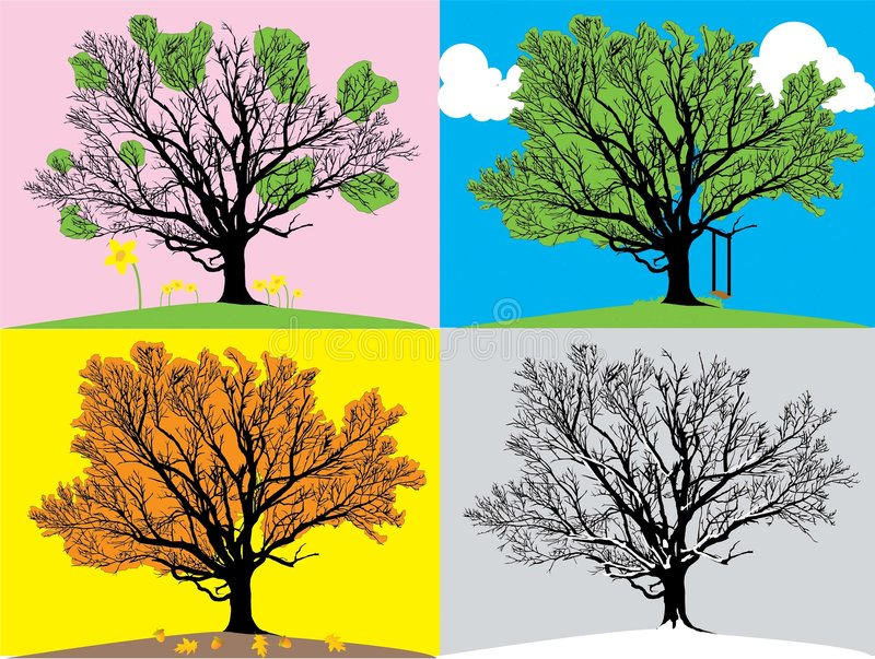 Illustration de quatre saisons images stock