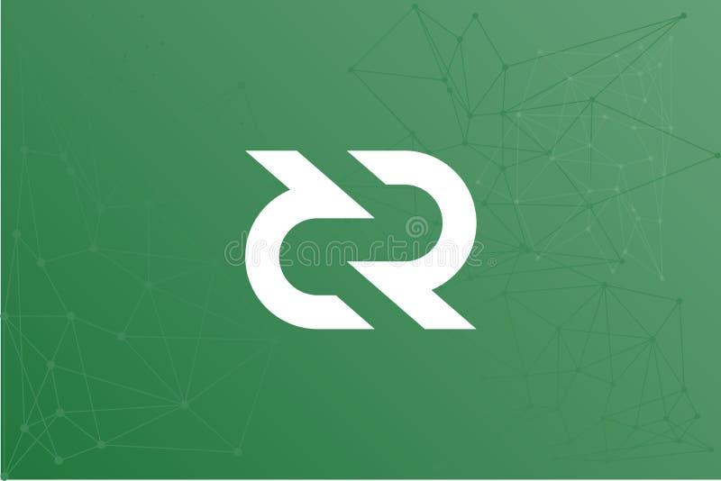 Illustration de réseau de DCR de Decred illustration de vecteur