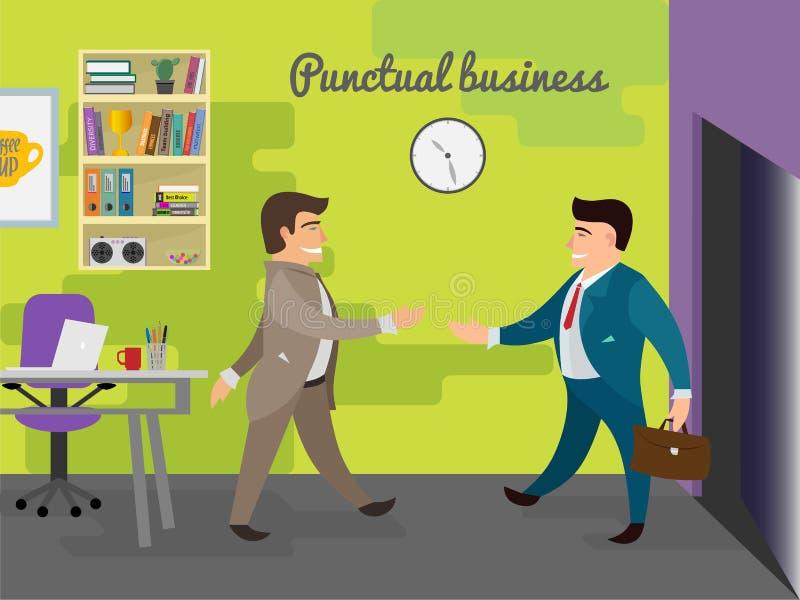 Illustration de réunion d'affaires illustration de vecteur