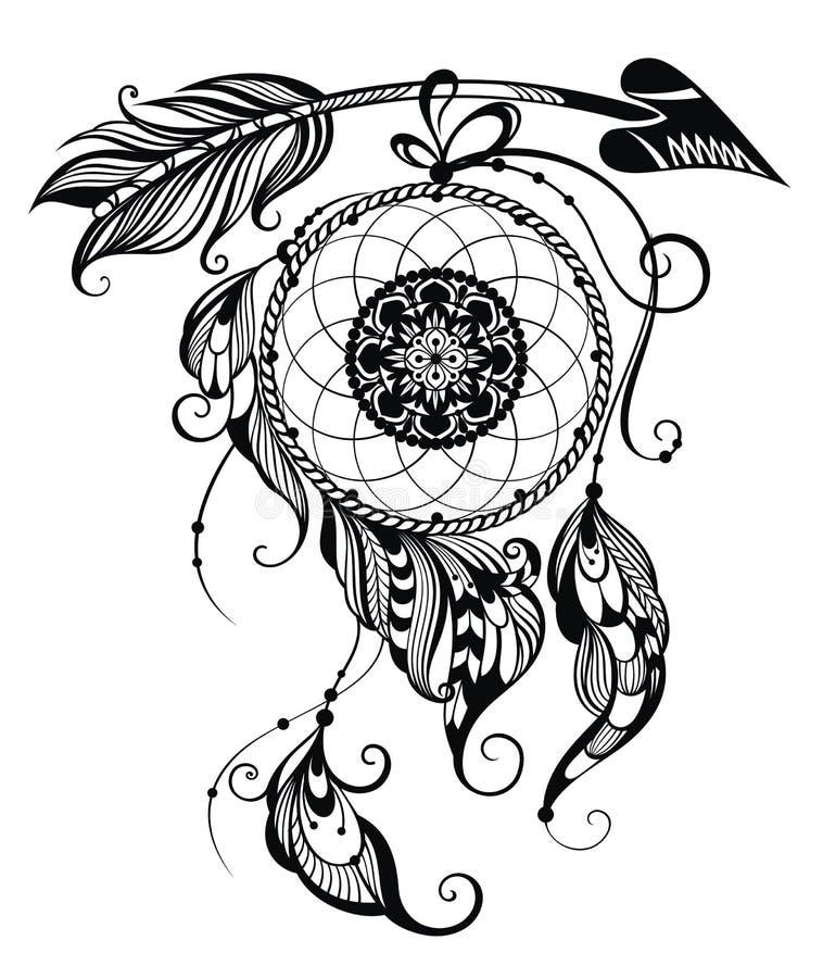 Illustration de receveur rêveur illustration de vecteur