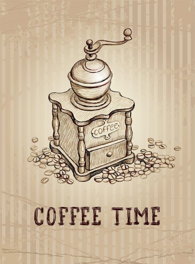 Illustration de rectifieuse de café illustration stock