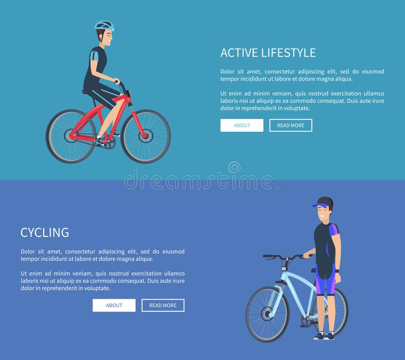 Illustration de recyclage de vecteur de Web de mode de vie actif illustration de vecteur