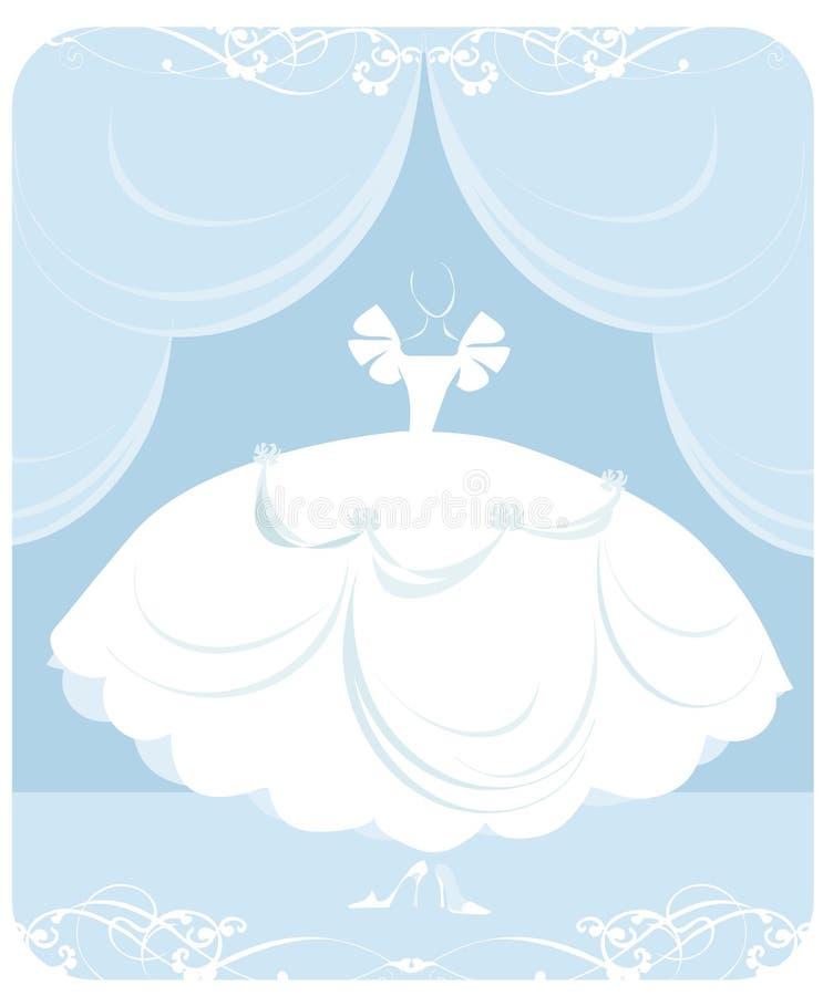 Illustration de robe de mariage illustration stock