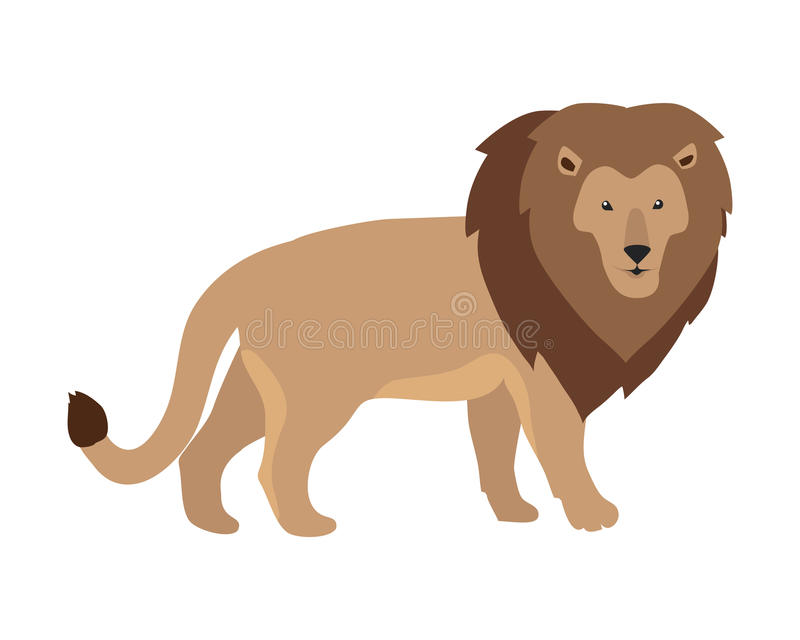 Illustration de roi de lion illustration de vecteur