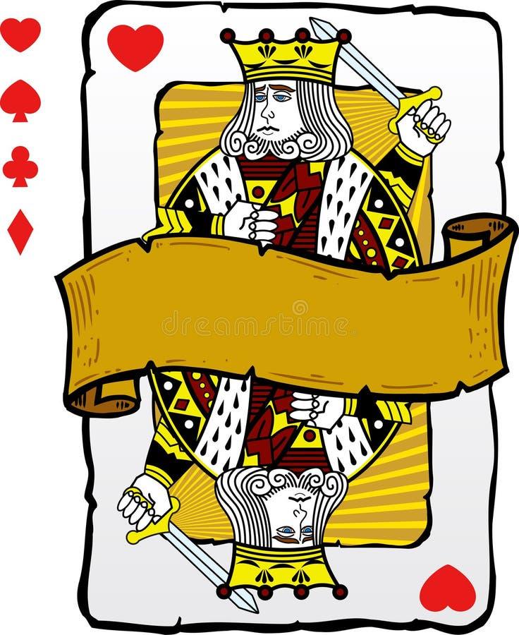 Illustration de roi de type de carte de jeu illustration stock