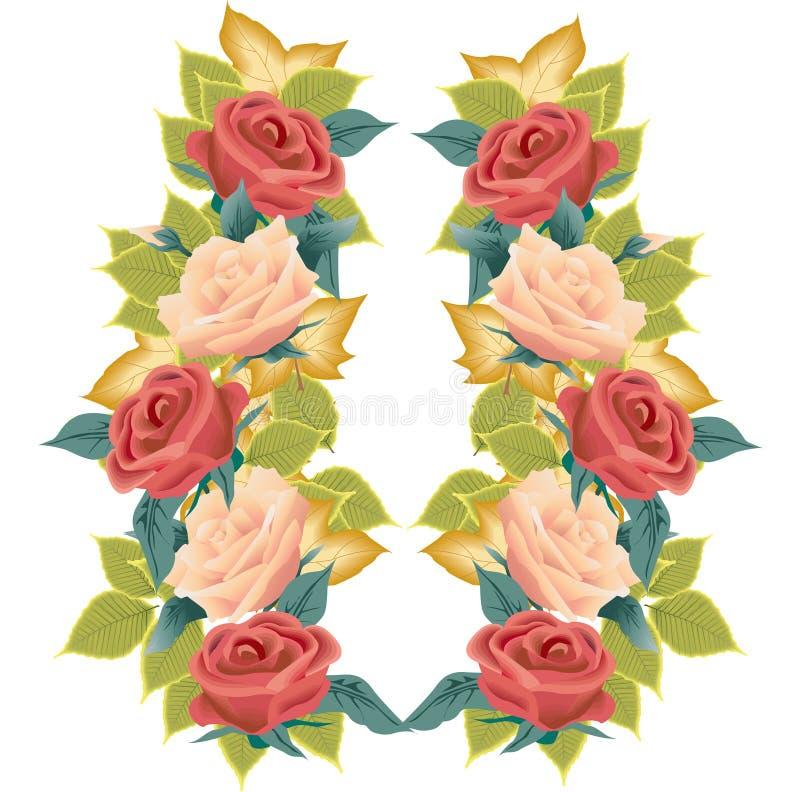 Illustration de roses et de lames illustration stock
