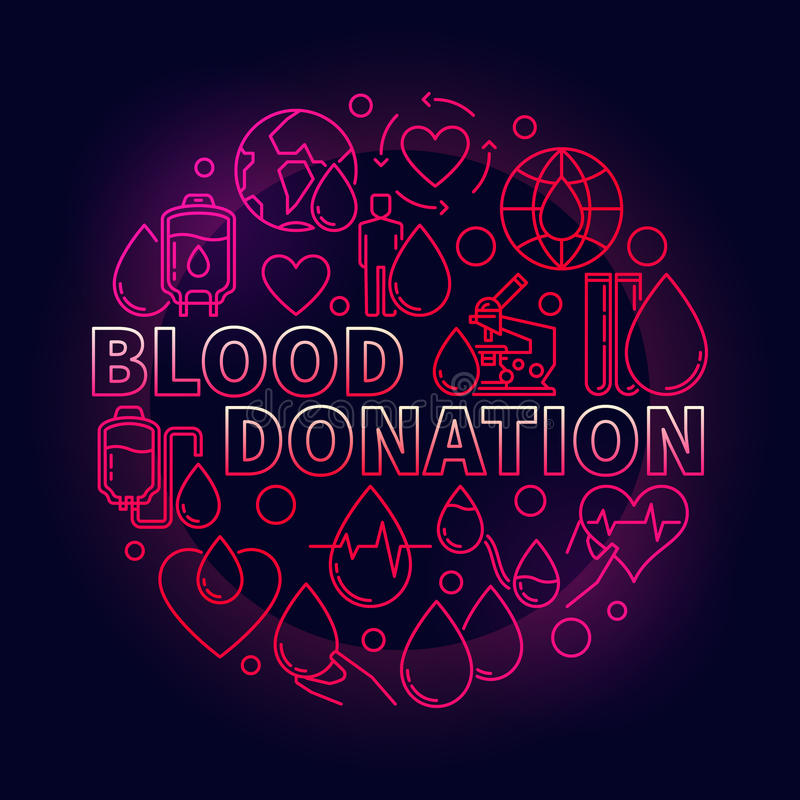 Illustration de rouge de don du sang illustration libre de droits