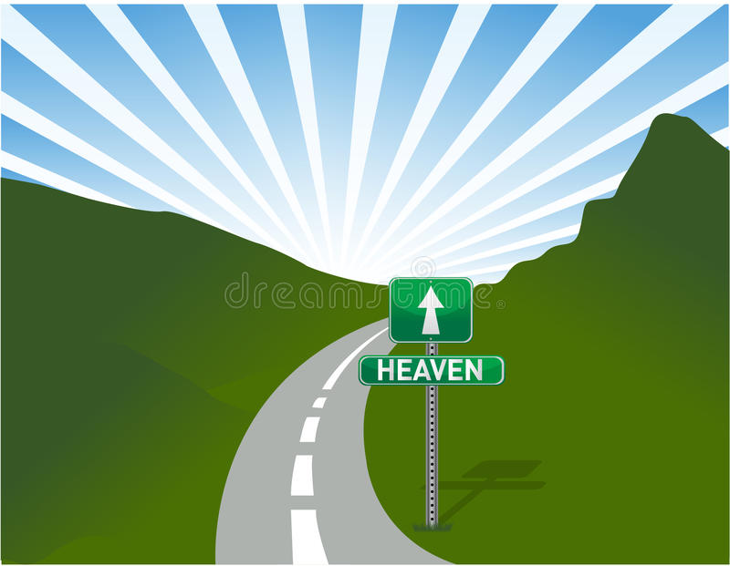 Illustration de route au ciel illustration libre de droits