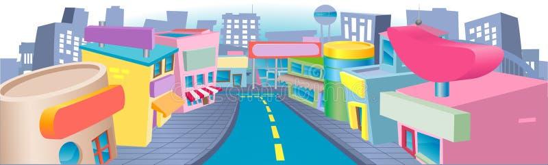 Illustration de rue d'achats illustration stock
