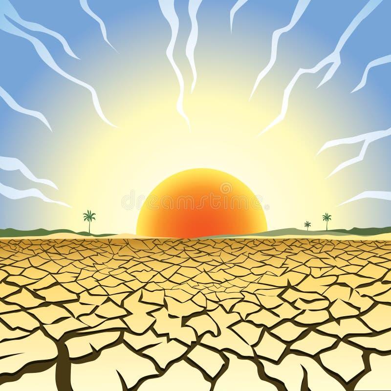 Illustration de sécheresse illustration stock
