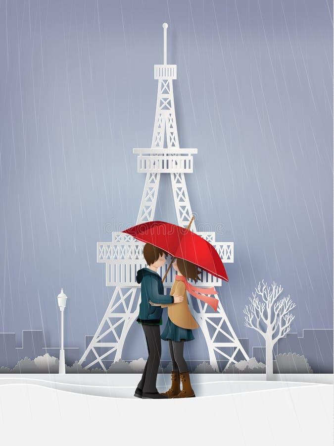 Illustration de saison d'amour et d'hiver illustration stock
