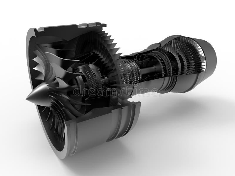 Illustration de section de moteur à réaction illustration de vecteur