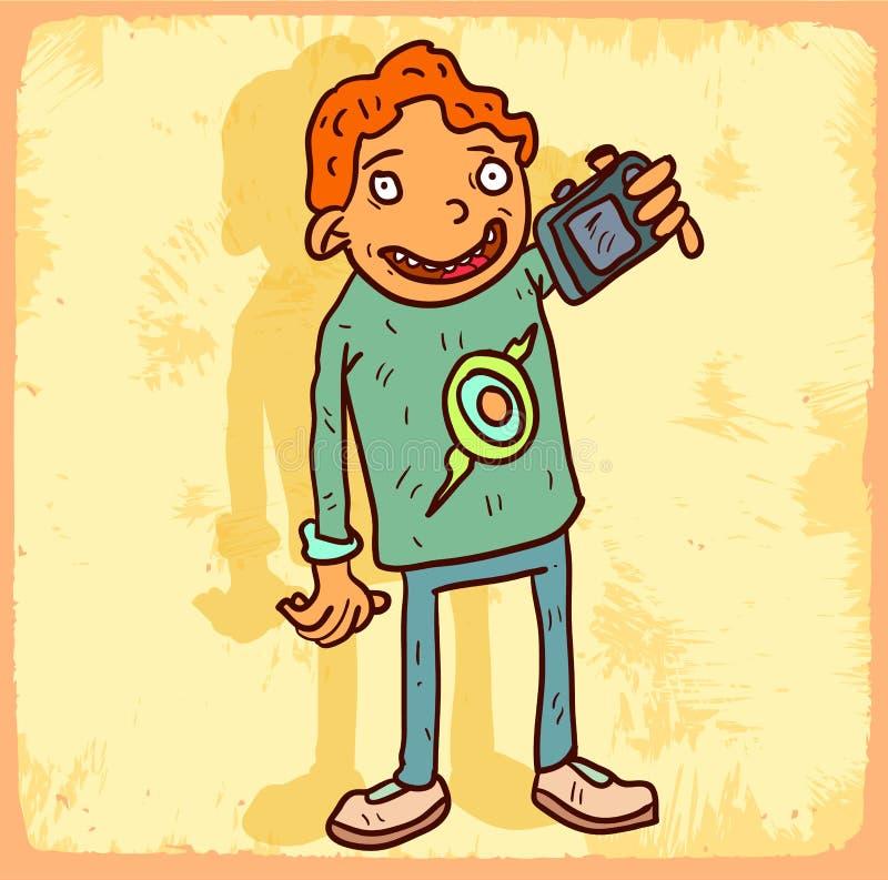 Illustration de selfie de bande dessinée, icône de vecteur illustration libre de droits