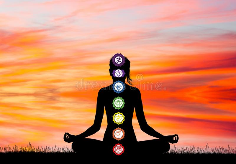 Illustration de sept Chakras illustration stock