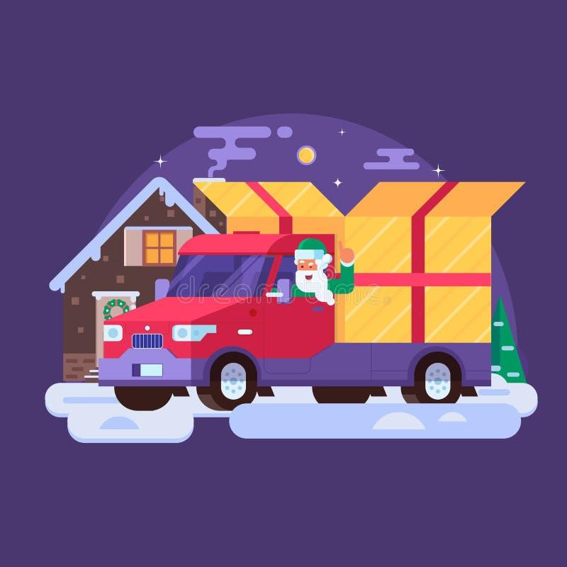 Illustration de service de livraison pour Noël illustration stock