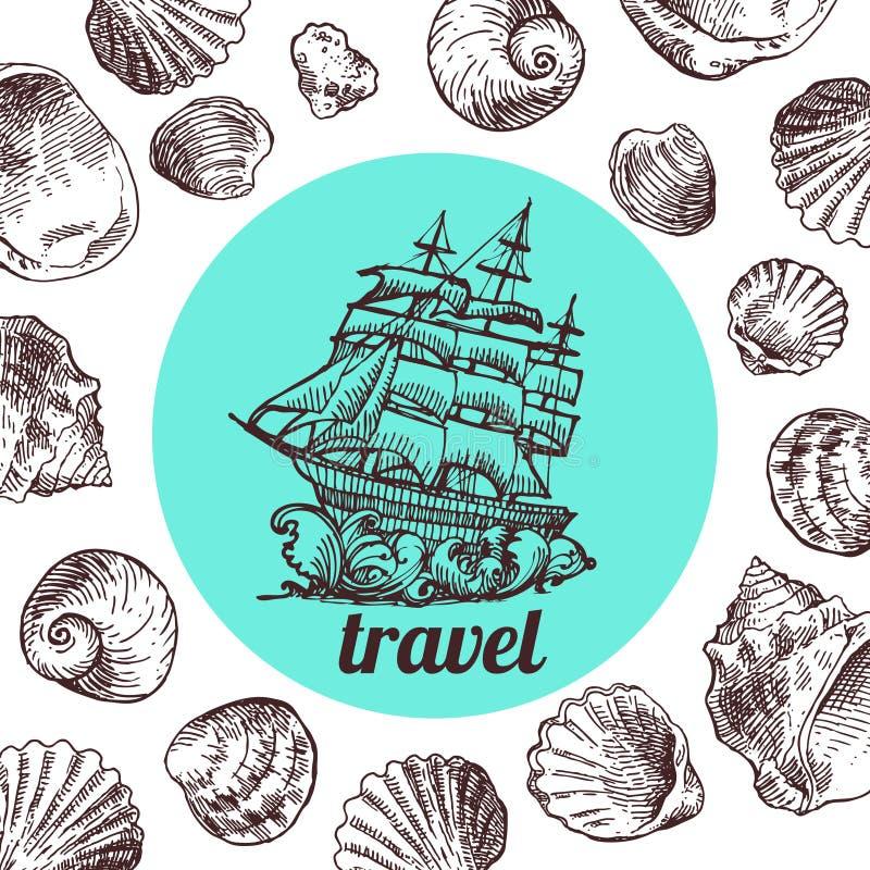 Illustration de Shell pour votre conception illustration de vecteur