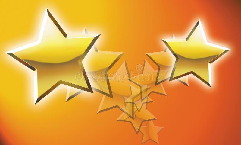 Illustration de Shooting Stars photographie stock