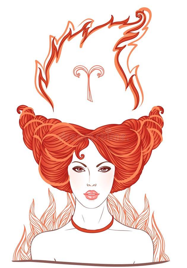 Illustration de signe astrologique de Bélier illustration stock