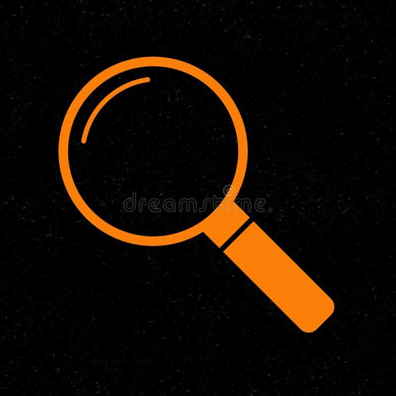 Illustration de signe de bourdonnement Icône orange sur le fond noir illustration stock