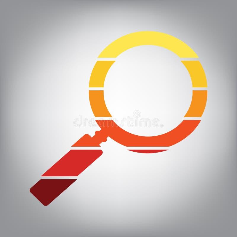 Illustration de signe de bourdonnement Vecteur Icône horizontalement découpée en tranches avec la Co illustration libre de droits