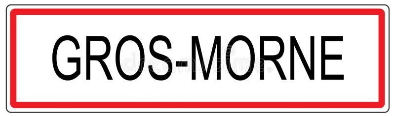 Illustration de signe de circulation urbaine de Gros Morne dans les Frances illustration de vecteur