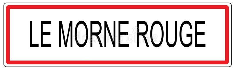 Illustration de signe de circulation urbaine de le Morne Rouge dans les Frances illustration de vecteur