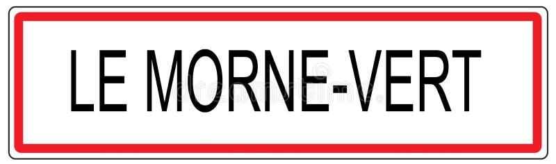 Illustration de signe de circulation urbaine de le Morne Vert dans les Frances illustration libre de droits