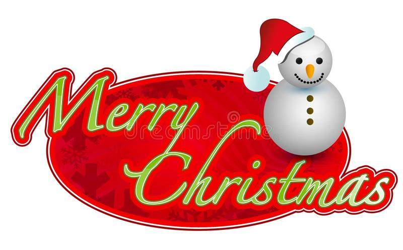 Illustration de signe de Joyeux Noël   illustration de vecteur