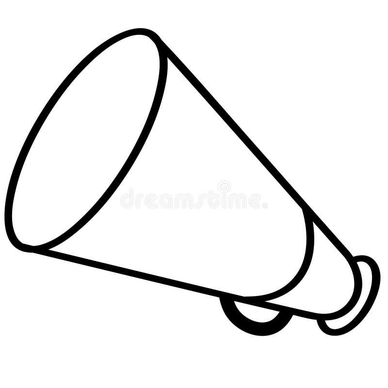 Illustration de sir?ne de m?gaphone de corne de brume par des crafteroks illustration de vecteur