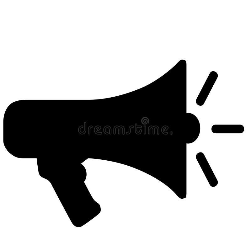 Illustration de sir?ne de m?gaphone de corne de brume par des crafteroks illustration stock