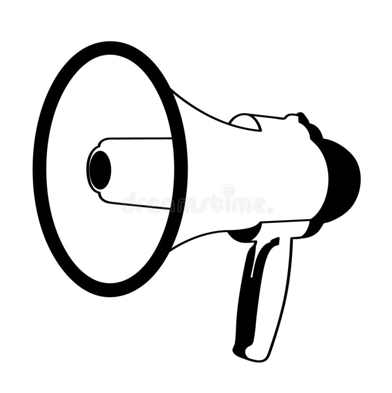 Illustration de sir?ne de m?gaphone de corne de brume par des crafteroks illustration libre de droits